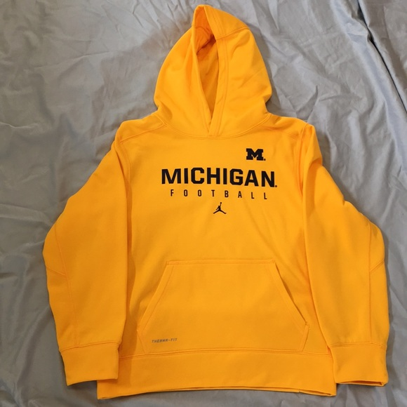 Michigan Jordan Gear >> Michigan Football Yellow Hoodie